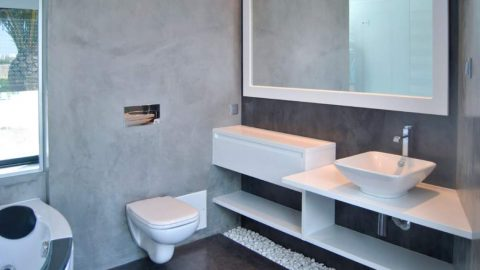 Microcimento casas de banho