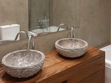 Microcimento: Como revestir cerâmica em casas de banho?
